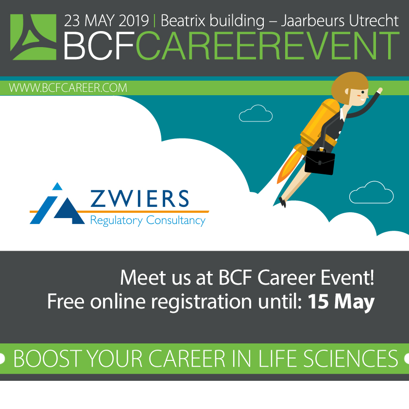 Meet with Zwiers at the BCF career event in Utrecht
